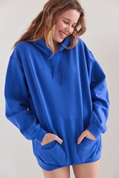 Silence And Noise All Day Hoodie Sweatshirt Blue