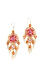 Miguel Ases Paige Earrings Pink Multi