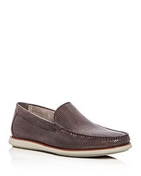 Kenneth Cole Men's Cyrus Perforated Leather Loafers Light Gray