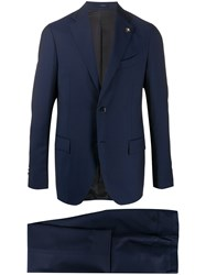 Lardini Fitted Two Piece Suit 60