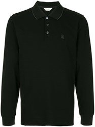 Gieves And Hawkes Longsleeved Polo Shirt Black