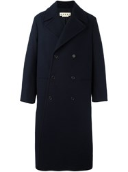 Marni Long Length Coat Blue