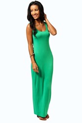 Boohoo Scoop Neck Maxi Dress Bright Green