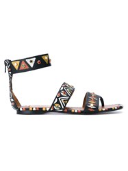 Valentino Garavani Hand Painted Thong Sandals Multicolour