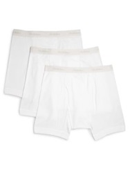Saks Fifth Avenue Supima Cotton Boxer Briefs 3 Pack White