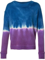 The Elder Statesman Tie Dye Effect Jumper Blue