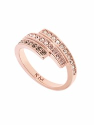 5b0f1e19d0a2 Karen Millen Tri Colour Ring Rose Gold