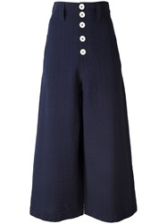 See By Chloe Wide Leg Flared Trousers Blue