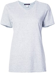 Harvey Faircloth Split Back T Shirt Grey