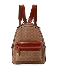 Coach Campus Signature Coated Canvas Backpack Tan Rust