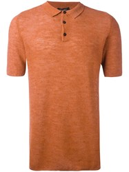 Roberto Collina Classic Polo Shirt Yellow Orange