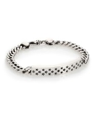 King Baby Studio Sterling Silver Star Id Chain Bracelet