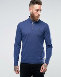Ted Baker Longsleeve Knitted Polo 15 Mid Blue Navy