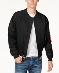 Ring Of Fire Men's Fly Weight Bomber Jacket Created For Macy's Black