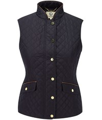 Viyella Navy Quilted Gilet
