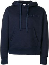 Ami Alexandre Mattiussi Hoodie With Paris Embroidery Blue