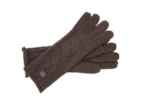 Smartwool Chunky Cable Glove Chocolate Heather Extreme Cold Weather Gloves Brown