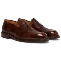 Tricker's Jason Leather Penny Loafers Brown
