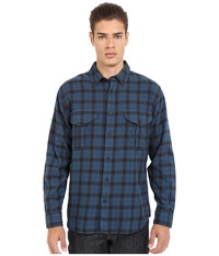 Filson Lightweight Alaskan Guide Shirt Blue Deep Brown Plaid Men's Long Sleeve Button Up