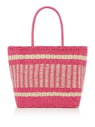 Therapy Straw Beach Bag Pink
