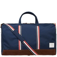 Thom Browne Nylon And Suede Holdall Blue