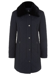 Windsmoor Deco Quilted Coat Navy
