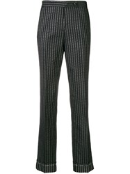 Golden Goose Deluxe Brand Pinstriped Tailored Trousers Blue