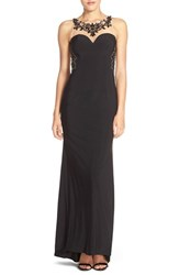 Women's Sean Collection Embellished Illusion Jersey Gown