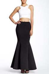 Gracia Flare Hem Maxi Skirt Black