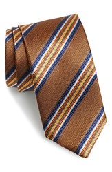J.Z. Richards Stripe Silk Tie Orange