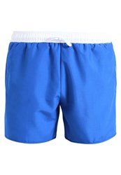 Pier One Contrast Waistband Piping Swimming Shorts Blue