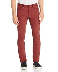 Boss Delaware Soft Twill Slim Fit Jeans In Khaki 100 Bloomingdale's Exclusive Burgundy
