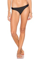 Pilyq Basic Ruched Teeny Bikini Bottom Black