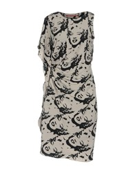 Andy Warhol By Pepe Jeans Knee Length Dresses Grey
