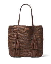 Michael Kors Santorini Raffia Tote Bag Medium Beige