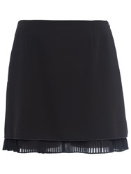 French Connection Arrow Crepe Mini Skirt Utility Blue