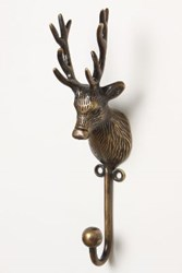 Anthropologie Creature Kingdom Hook Deer Bronze