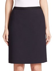 Lanvin Knit Mini Skirt Navy