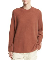 Vince Cashmere High Crew Pullover Brown