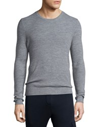 Atm Anthony Thomas Melillo Thermal Stitch Crewneck Sweater Gray Light Grey