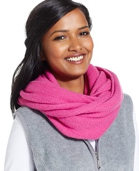 Style And Co. Super Fleece Loop Scarf Rose Violet