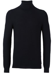 Zanone Turtleneck Pullover Blue