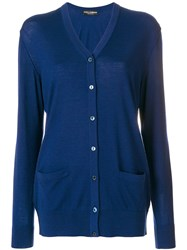 Dolce And Gabbana Button Up Cardigan Blue
