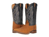 Old West Boots Bsm1883 Distressed Brown Navy Cowboy Beige