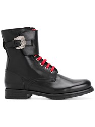 Dorateymur Combat Boots Leather Rubber Black