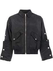 Y Project Embellished Bomber Jacket Unisex Polyester Acetate M Black