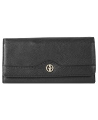 Giani Bernini Wallet Leather Receipt Manager Black