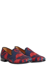Marc Jacobs Flamingo Printed Satin Loafers