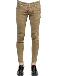 Dsquared 18.5Cm Sexy Boot Cut Stretch Denim Jeans Beige