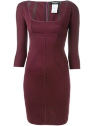 Dsquared2 Fitted Dress Pink And Purple